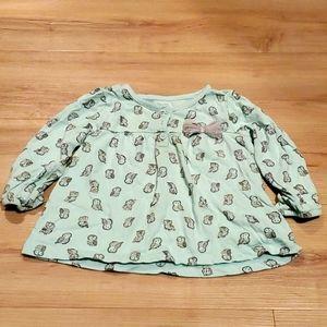 🏷3 for $10 girls 18 month owl shirt